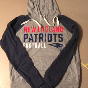 New England Patriots hooded long sleeve shirt